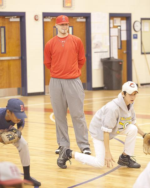Kaleb Cowart at Genesis Baseball Academy's Winter Baseball Camp